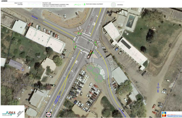 Paseo Del Pueblo Sur and Los Pandos Road Siler Road Intersection